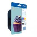 Cartridge Brother LC-123RBWBP -cyan/magenta/yellow, azurová/purpurová/žlutá inkoustová náplň do tiskárny