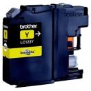 Cartridge Brother LC-123Y - yellow, žlutá inkoustová náplň do tiskárny