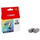 Cartridge Canon BCI15B - black, černá inkoustová náplň do tiskárny, 2ks