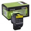 Toner Lexmark 70C2HY0 - yellow, žlutá tonerová náplň do laserové tiskárny