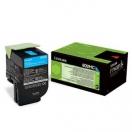 Toner Lexmark 80C2HC0 - cyan, azurová tonerová náplň do laserové tiskárny
